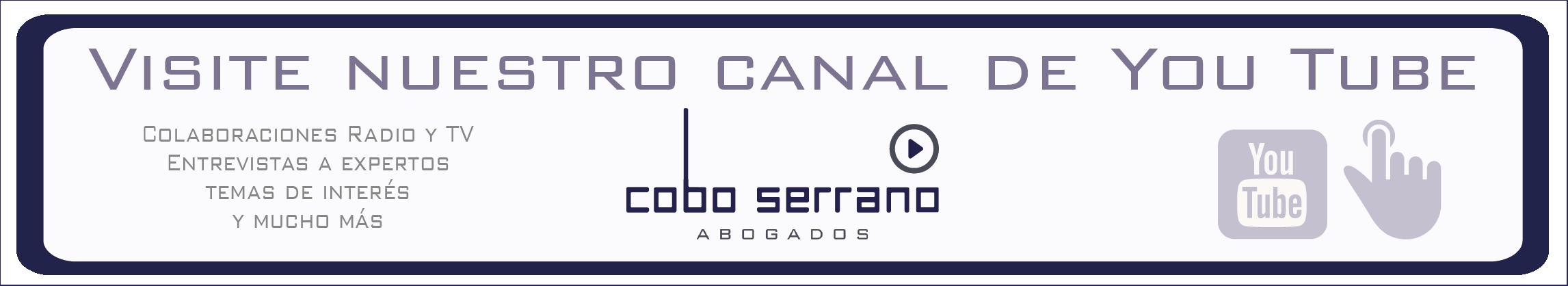 YouTube Cobo Serrano Abogados